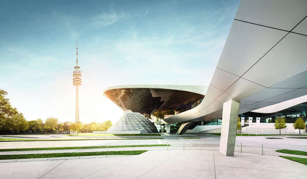 BMW Welt, Munich - BMW Welt is a multi-use exhibition center located in Munich, Germany used for meetings and promotional events, and where buyers take delivery of BMW vehicles. It situated in the Milbertshofen-Am Hart district, next to the BMW Headquarters (BMW HQ) and the Olympiapark.