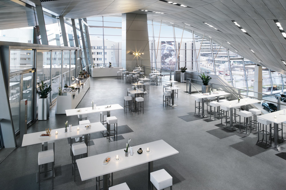 Event Venue in BMW Welt - Enjoy the Exclusive Cocktail Party for Designers and Business Representatives and Presentation of Design Companies