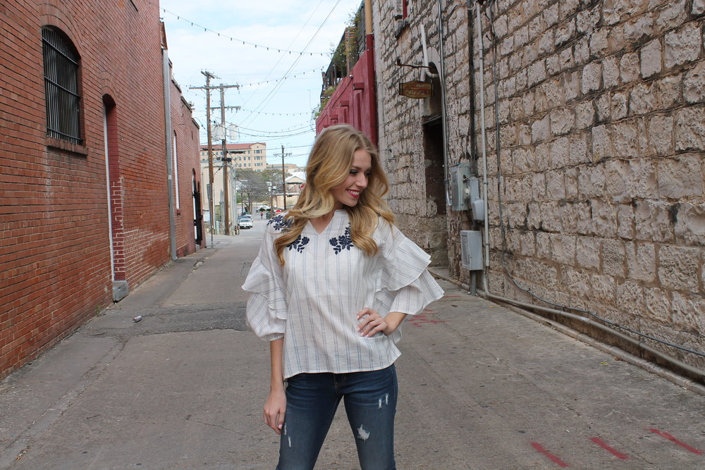 Jeans $38, Top $42