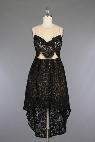 Crochet Hi Lo Dress $62