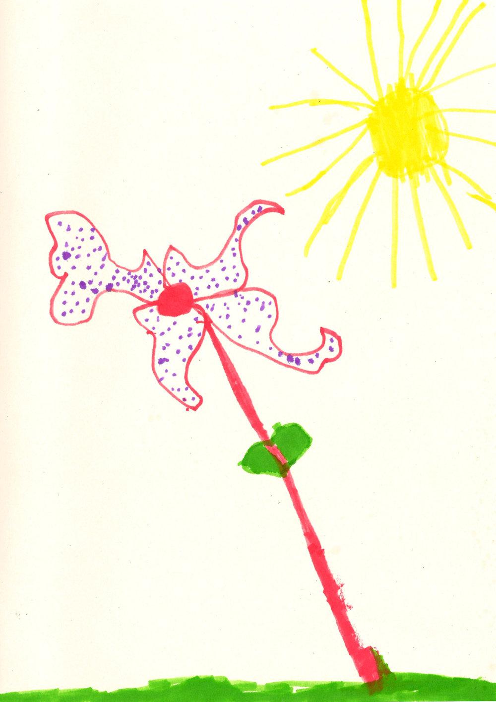A beautiful flower by Nova (3 y/o)