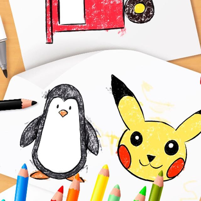 Simple and easy to follow drawing lessons. Try our free app for iPad and iPhone! #howtodraw #artcrafts #artkids #preschooler #preschoolmom #parenting #parentingtips