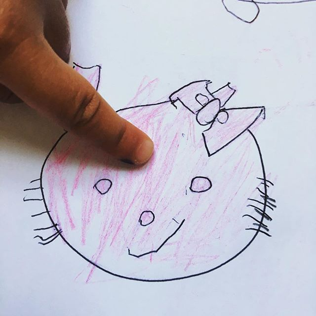 Nova 3y/o draws Hello Kitty! #kidsart #kids #howtodraw #drawingtutorial #childrenart #hellokitty #learntodraw