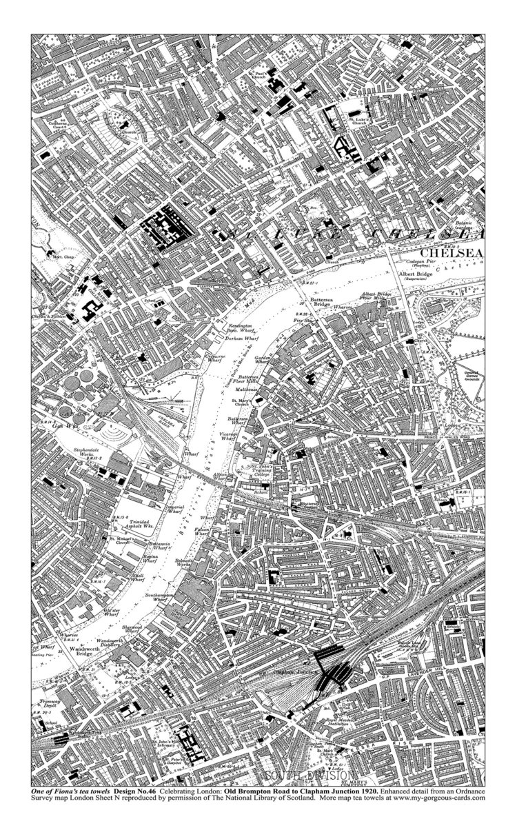 South West London Map.South West London My Gorgeous Cards Gifts
