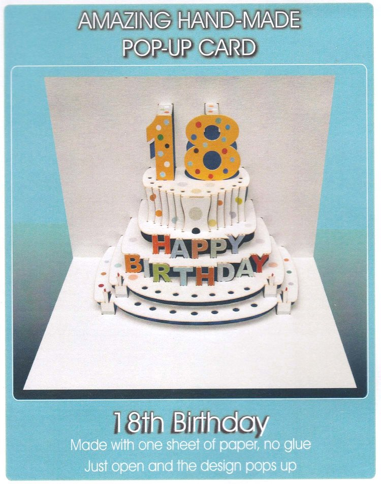 Pop Up 18th Birthday Cake My Gorgeous Cards Gifts