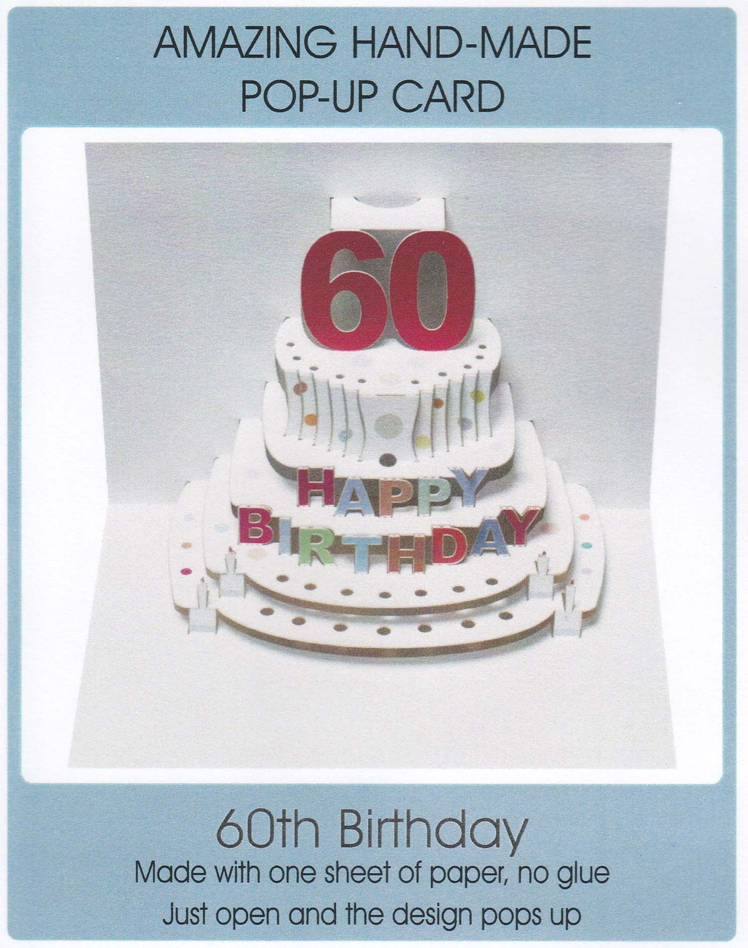 Pop Up 60th Birthday Cake