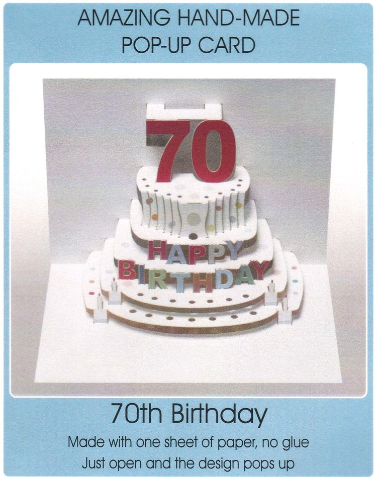 Pop Up 70th Birthday Cake