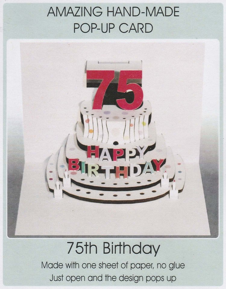 Pop Up 75th Birthday Cake