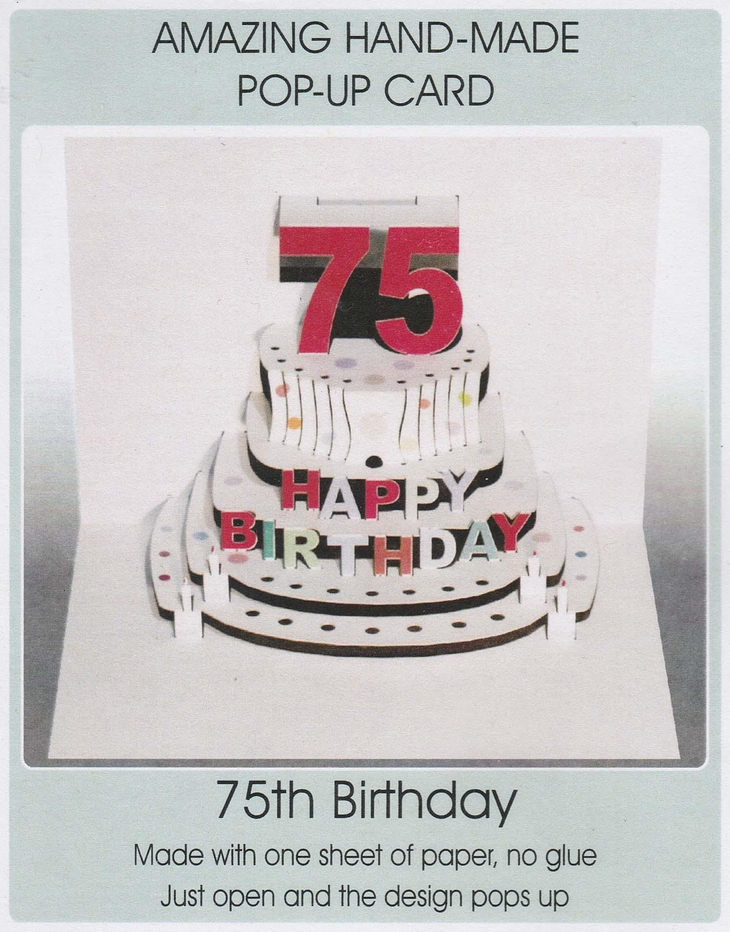 Pop Up 75th Birthday Cake