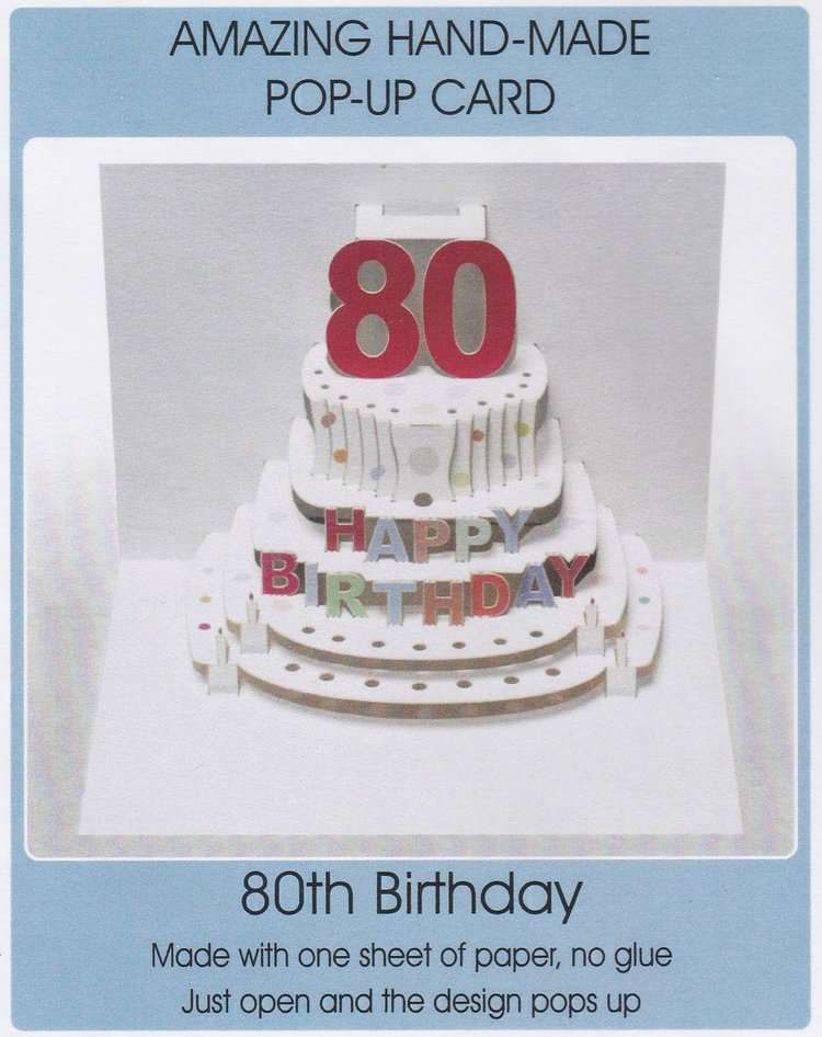 Pop Up 80th Birthday Cake