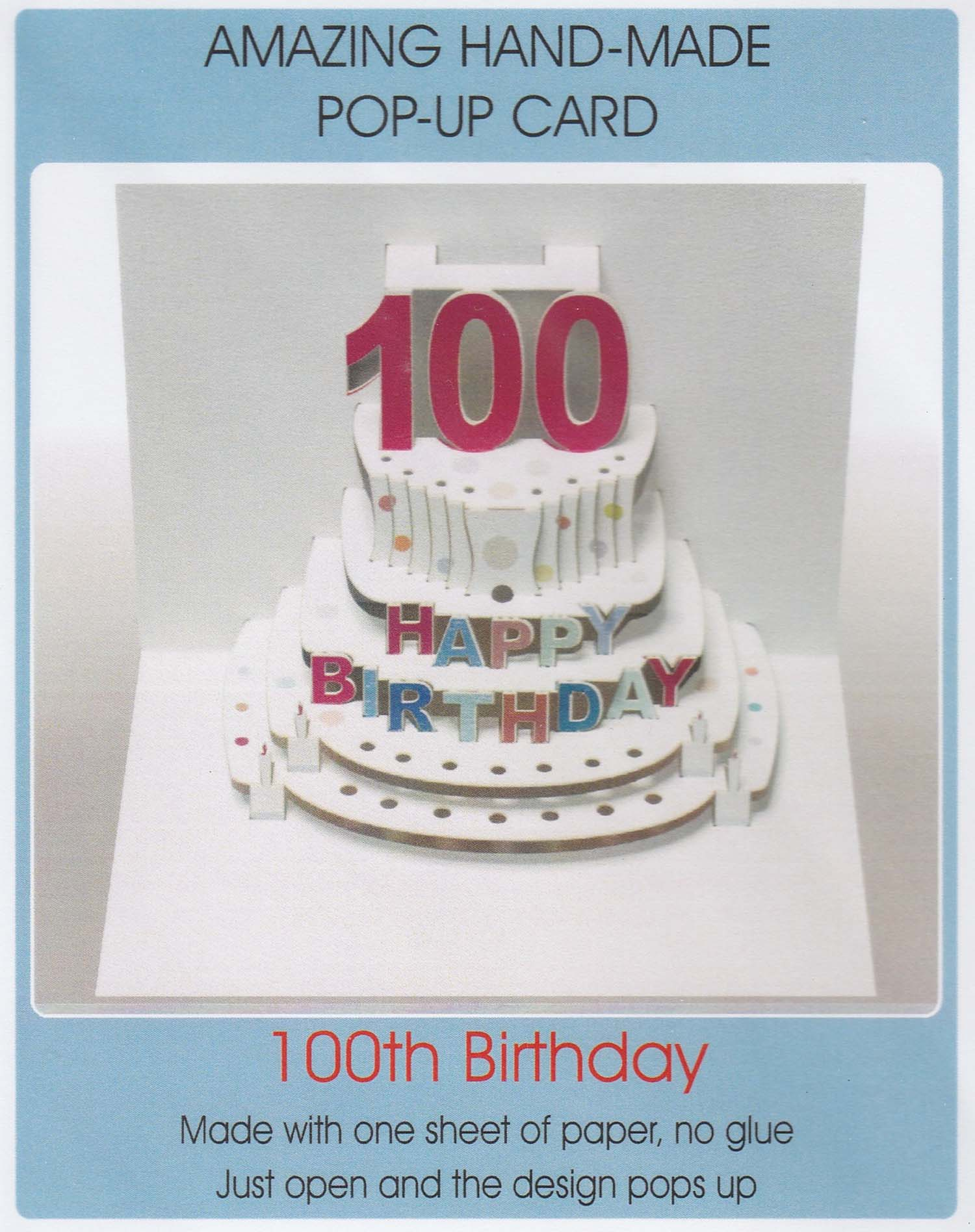 Pop Up 100th Birthday Cake My Gorgeous Cards Gifts