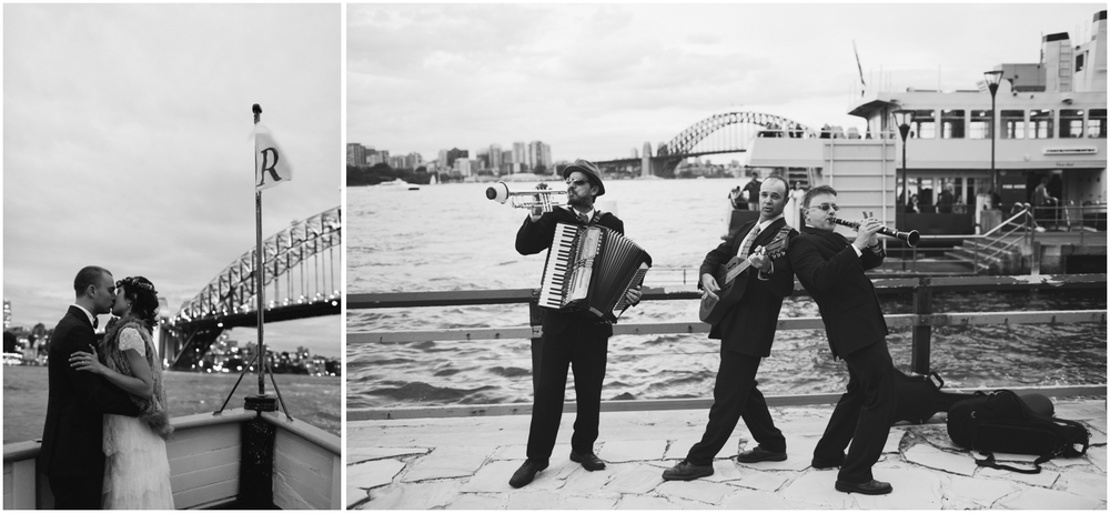 The band. SIMMER ON THE BAY WEDDING, WALSH BAY, SYDNEY