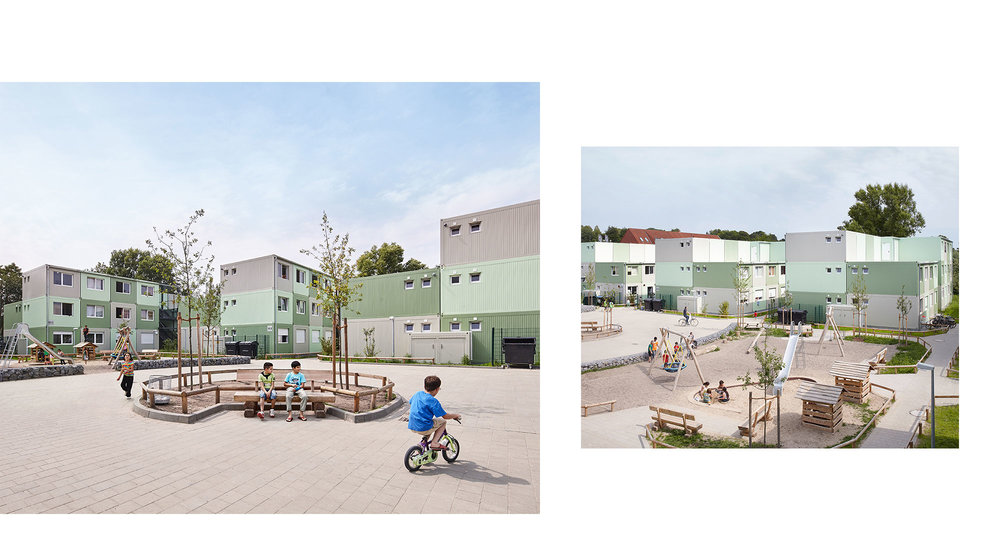 Piet Niemann Architectural Photographer Hamburg Germany / Architekturfotograf Hamburg Deutschland / TEMPORARY REFUGEE HOUSING BY G2R ARCHITEKTEN