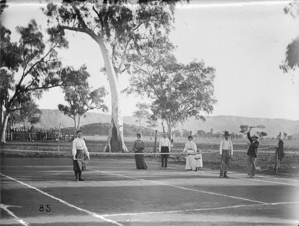 Image: First tennis court in Alice Springs, NTL, Smith collection, ph0763_0037