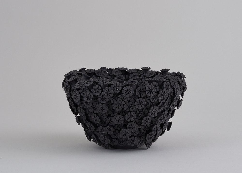 DAISY, black porcelain, 13.5cm H, 23cm W, £1200