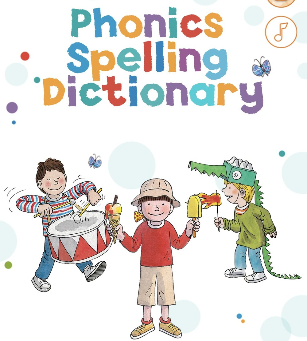 Phonics Spelling Dictionary - The whole Biff, Kipper and Chip clan (who calls their daughter Biff?).  They've yet to go near it - I'm not deleting it though.£4.99