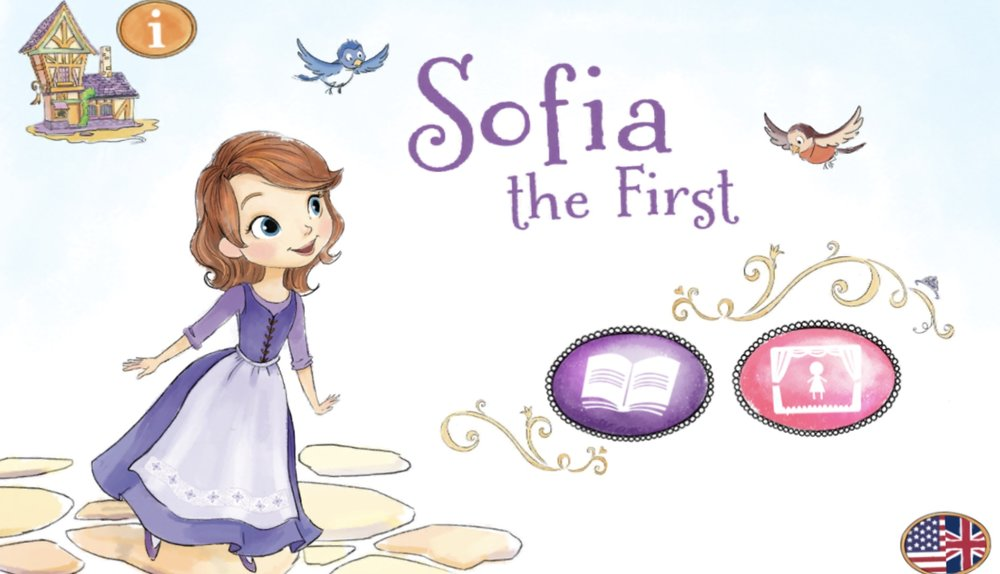 Sofia the First - A nicely illustrated version of the Sofia the First story, but not as awfully Disney-fied.  Children can retell the story or make up their own using different characters and backgrounds.  Like playing normally really.  Almost.  See also Princess Fairy Tales£2.99