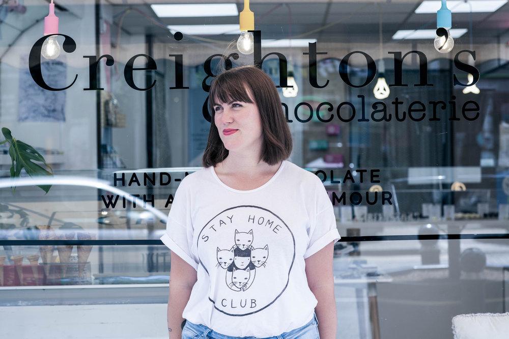 Woman in Progress Lucy Elliott Creighton's Chocolaterie