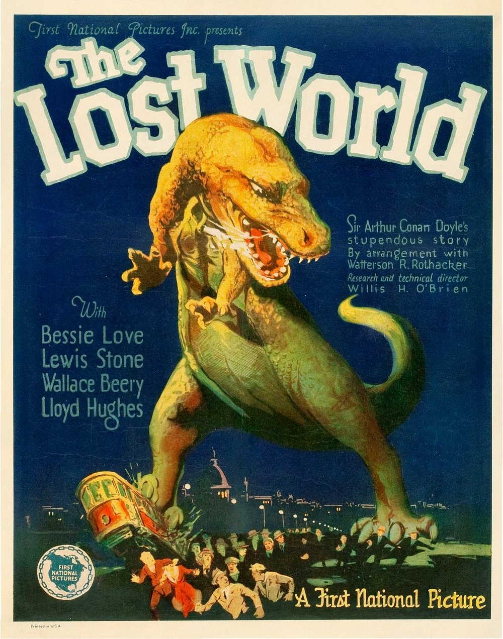 The Lost World -elokuvajuliste vuodelta 1925. Kuva: Wikimedia Commons.
