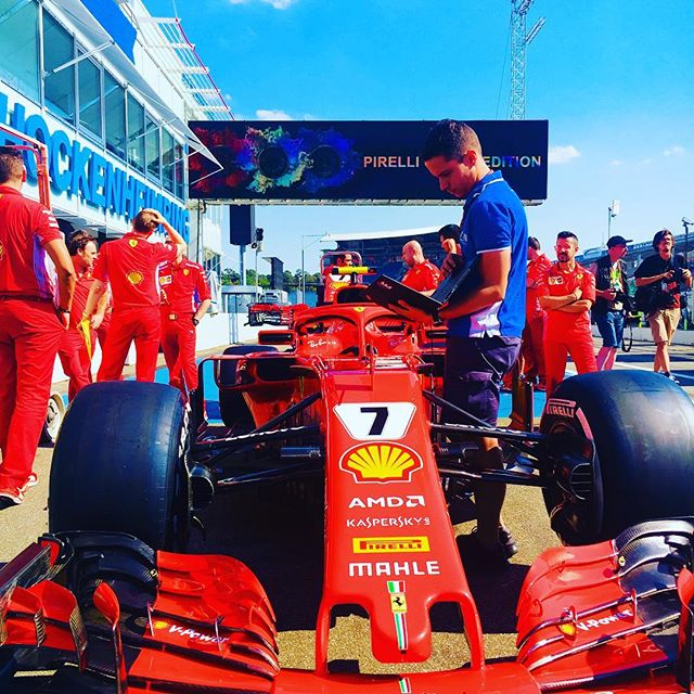 It's gonna be red hot today at @hockenheimring_official.... ________________________________________________________#hockenheimring #GermanGP #f1heimspiel #ferrari #ferrarired #red #F1 #Formula1