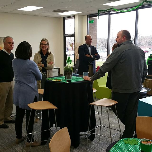 St. Patrick's week open house at he Michela Group showroom