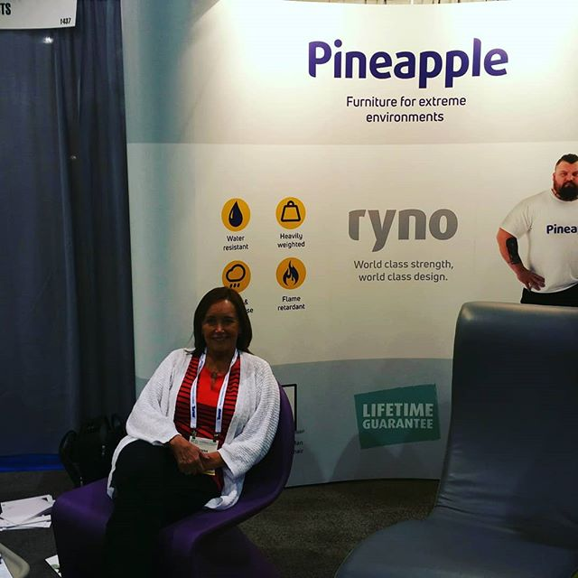 Donna is sitting in the Ryno chair from Pineapple Contracts, Inc. our newest line of highly functional cool furniture for behavioral healthcare, educational, military and innovative interiors. Jim is going zen in the ZEN chair helping us develope calmer environments. #healthcaredesign #behavioralhealth #officefurniture #interiordesign #pineapplecontracts #pineappleproducts