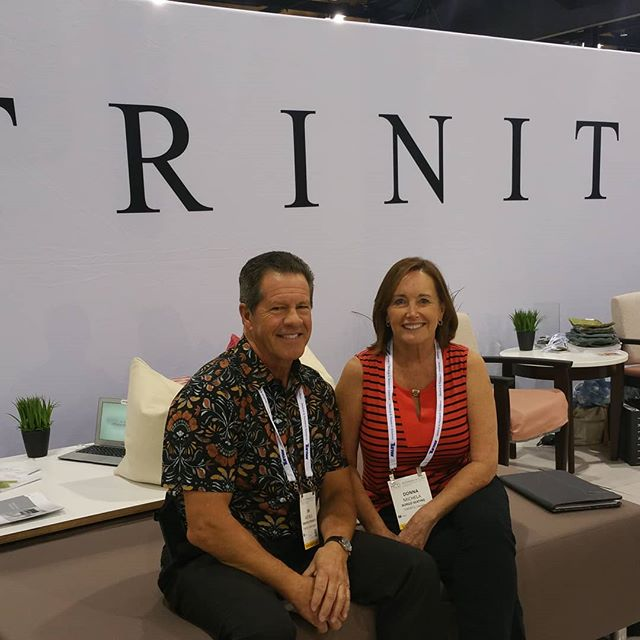 Checking some of Trinity's new products at the Health Care Design show in Phoenix. Clean lines good comfort booth looked great. #healthcaredesign #trinityfurniture #officefurniture #commercialfurniture