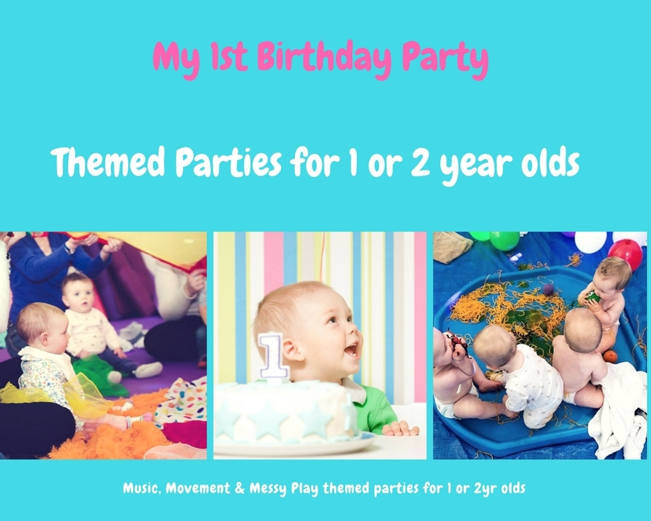 We offer birthday party packages for your little ones, for 1st or 2nd birthdays. We can tailor the party to you, but they generally run over 2hrs and include Sensory Song & Rhyme time, and Messy Play.   -