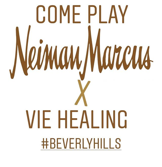 Beyond thrilled to be in my hometown of Los Angeles at the @neimanmarcus Beverly Hills location for the next three days! This will be hopefully be the residence of @viehealing for a little while 🤩  Come get some Gua sha, jade rollers and the most in demand, popular #24kgoldearseeds along side the rest of our incredible wellness line!