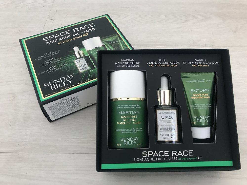 Sunday Riley Space Race Fight Acne, Oil, + Pores at  Warp Speed  Kit ($65,  sephora.com )