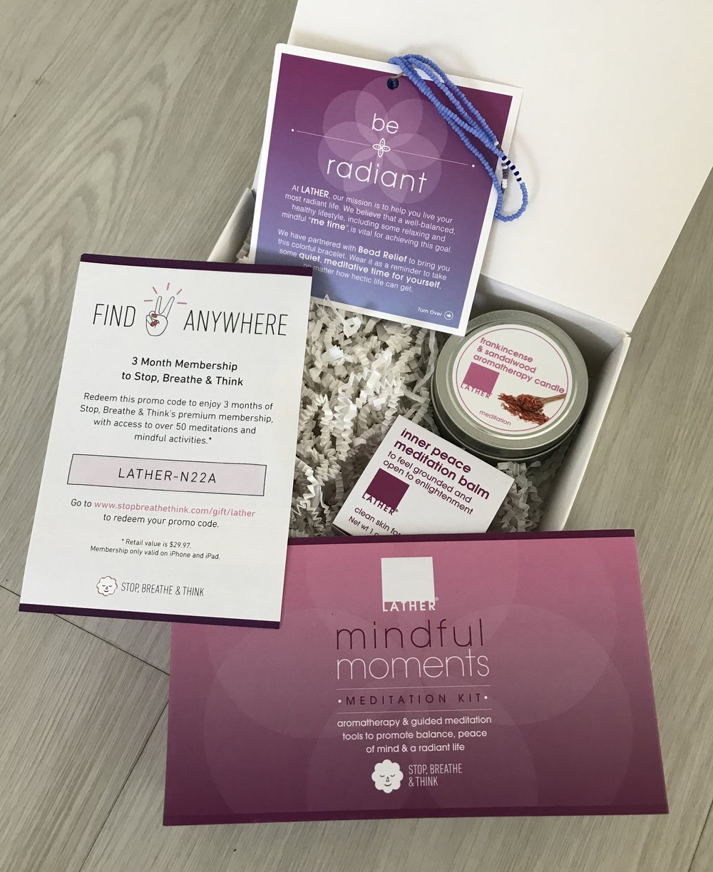 LATHER Mindful Moments Meditation Kit ($28,  lather.com )