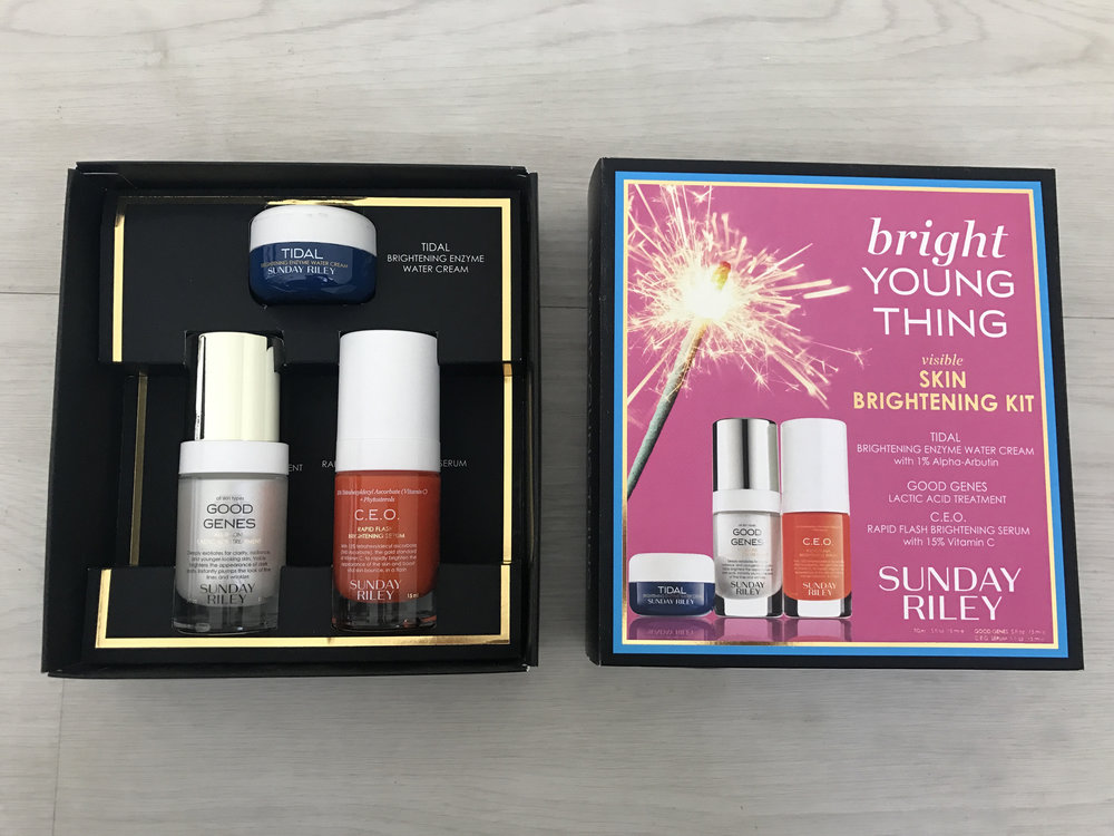 Sunday Riley Bright Young Thing Visible Skin Brightening Kit ($90,   sephora.com )