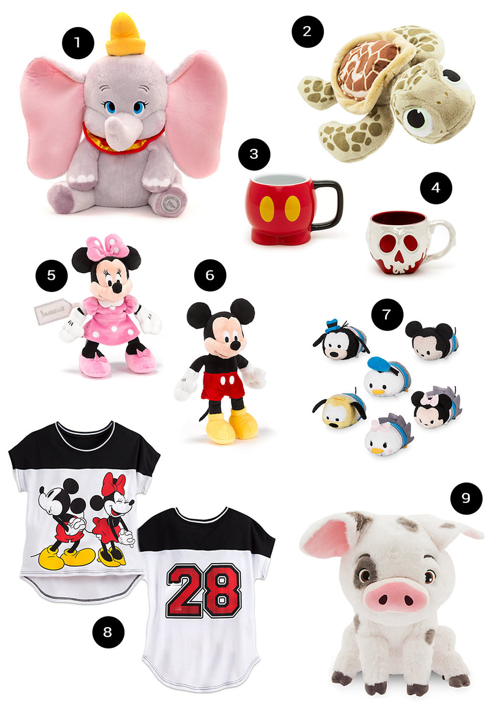 Photos from The Disney Store website.