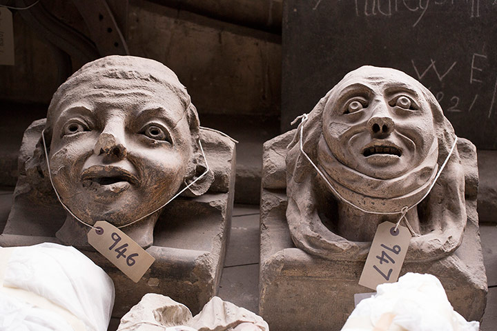 Who Carved Norman Senior and Norma Jr from Westminster Abbey?