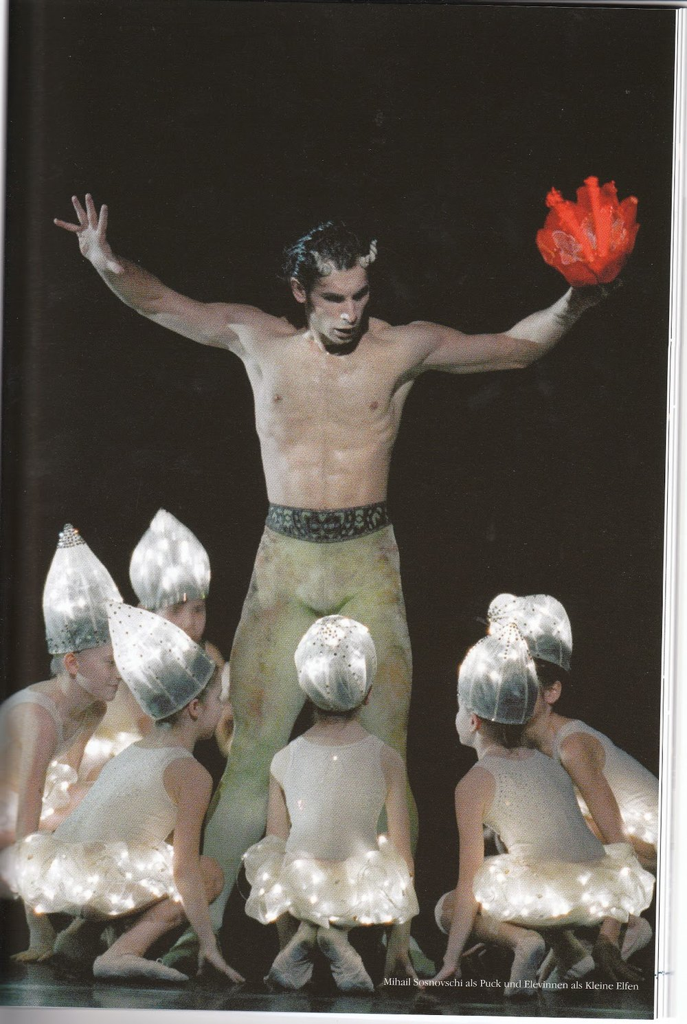 "(above Mihail Sosnovschi as ""Puck"", pictures: ""Wiener Staatsballet"" and Photograph of the programme)"