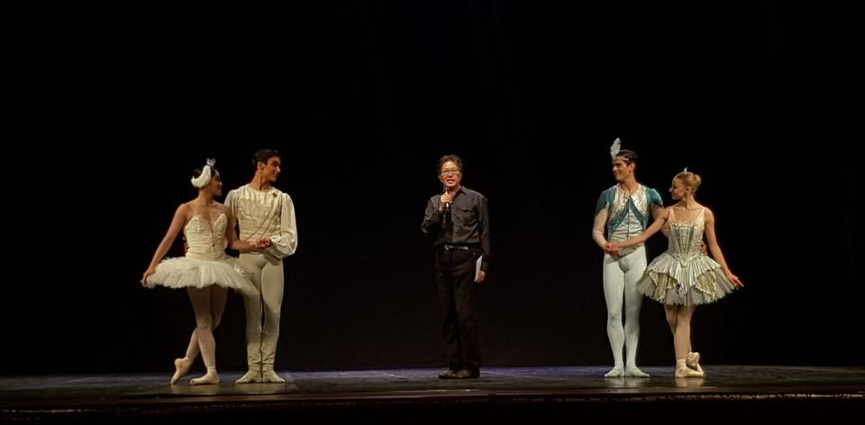 On stage last summer in Jakkarta/ Indonesia with her partner (also in real life); Tristan Ridel. Center Stage the organizer of this event - in a country that loves ballet, has many schools but no company… Mr. Jongky Goei.