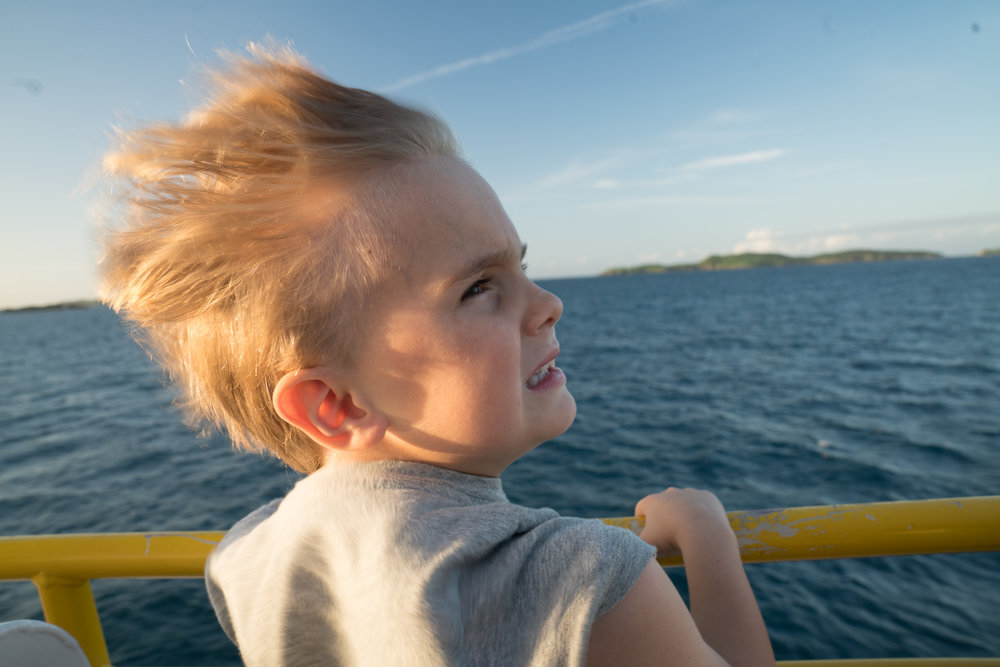 On the boat to St. John from St. Thomas; classic Graham.