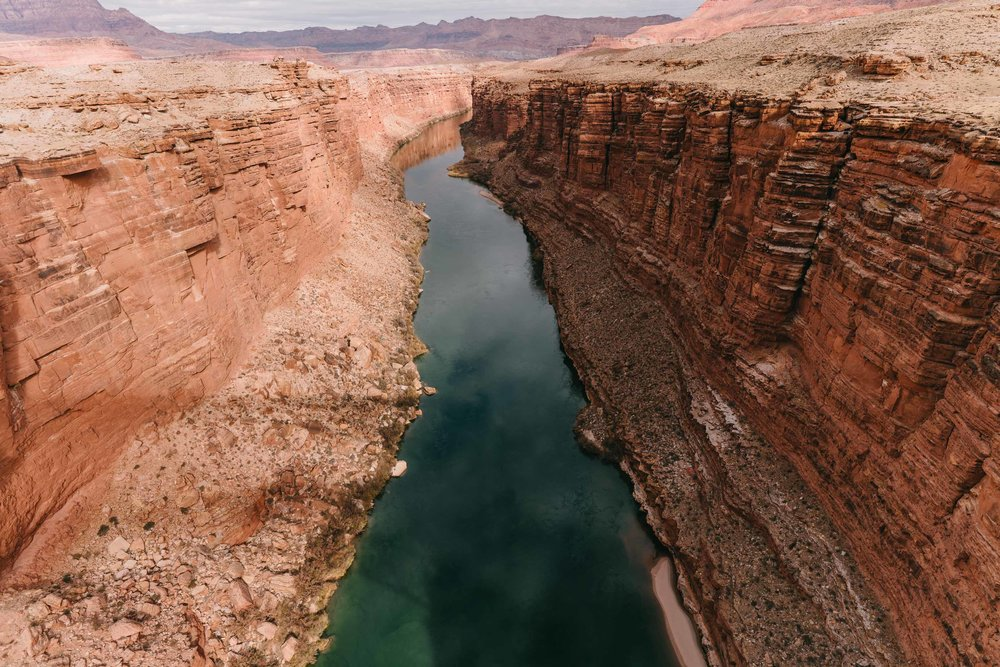 On the bridge at Marble Canyon, where the Grand Canyon begins.