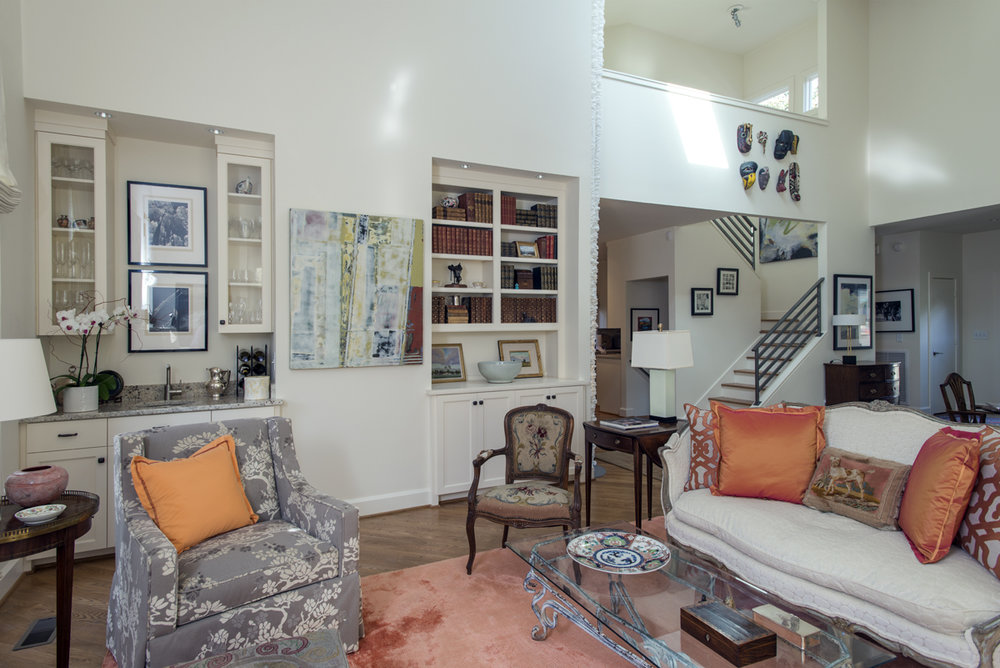 Living Room, orange accents