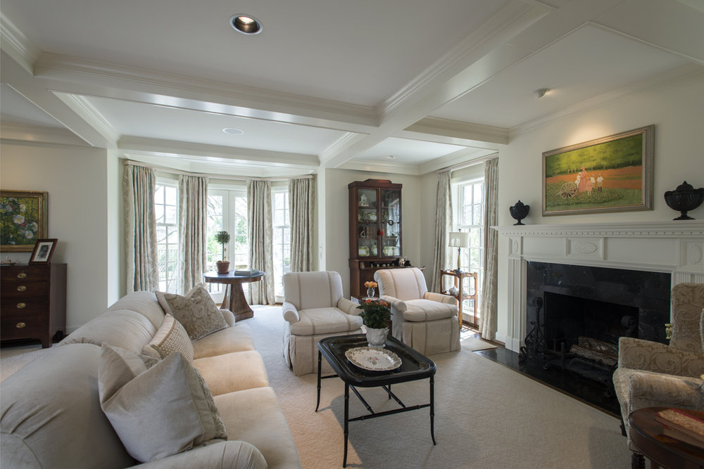 Neutral living room, Nashville Interior Design