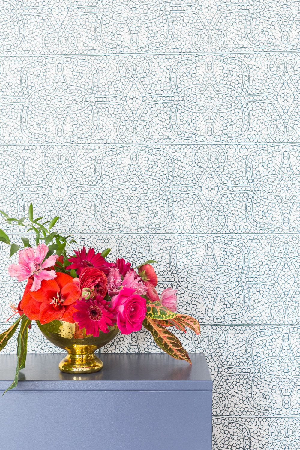 Bedroom wallpaper and florals