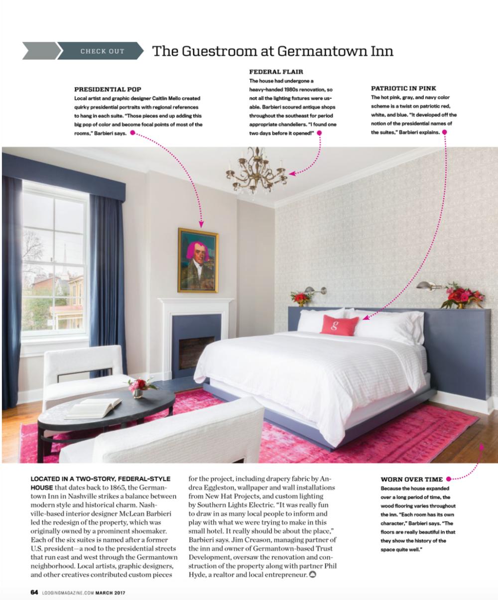 Lodging Magazine | Best Nashville Interior Design