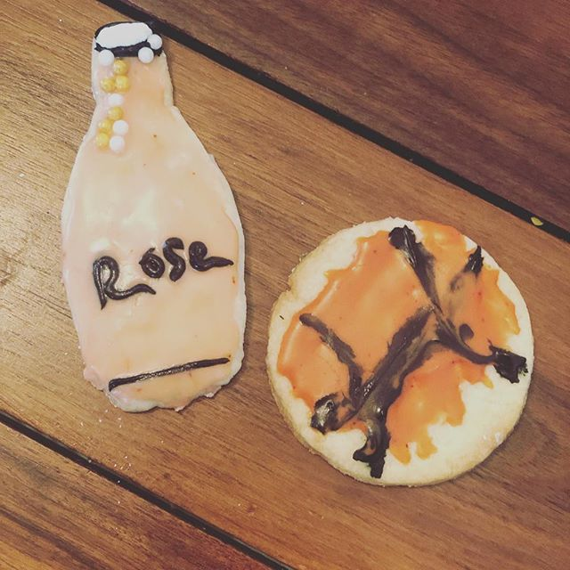 "On this cold Sunday, my kids made me cookies of ""things I love"" #basketballandrose #theypayattention"