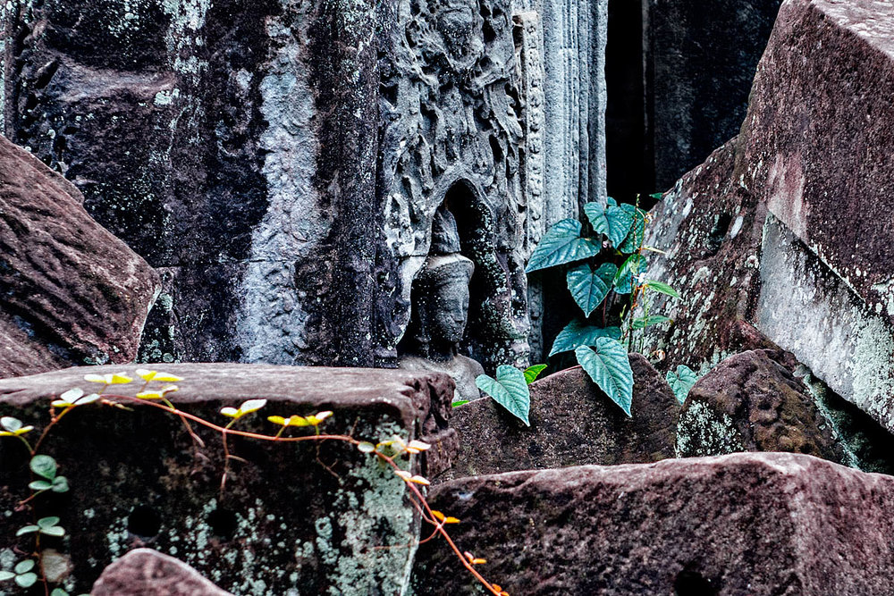 Face in the temple of Preah Khan