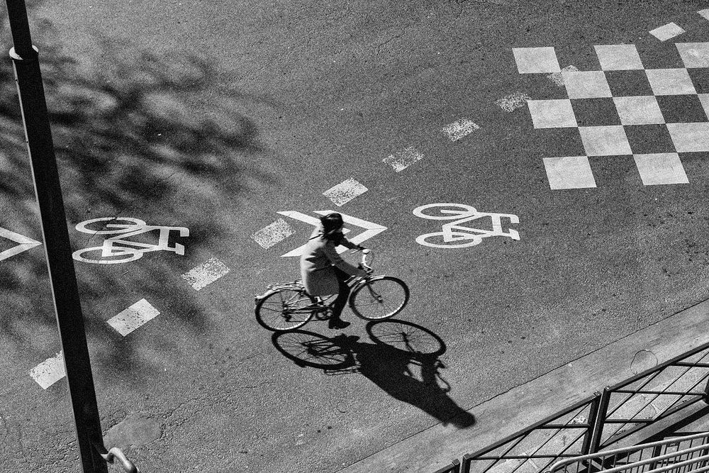 The bicicle shadow