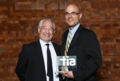 Dr. Paul Schaffer accepts the BC Tech Association TIA on behalf of ARTMS.