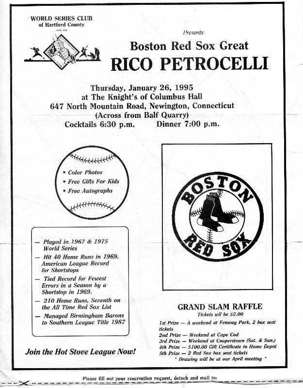 19950126 Rico Petrocelli flyer.jpg