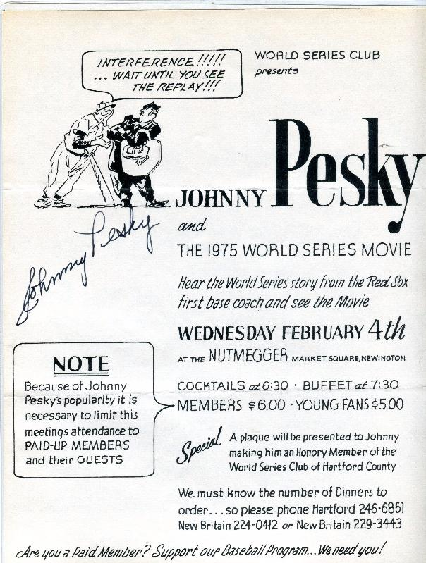 19760206 Johnny Pesky flyer.jpg
