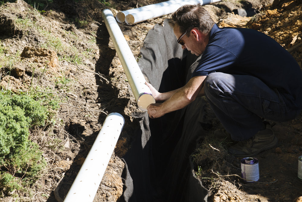 French Drain Asheville, NC