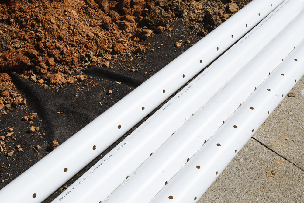 PVC Downspout Drain Line